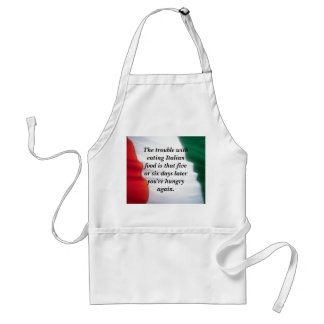 Italian Food.... Adult Apron