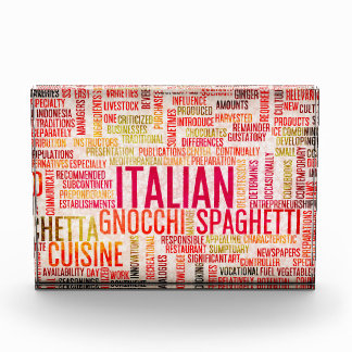 Italian Food and Cuisine Menu Background Award