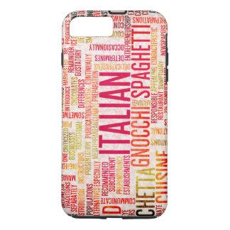 Italian Food and Cuisine Menu Background iPhone 8 Plus/7 Plus Case