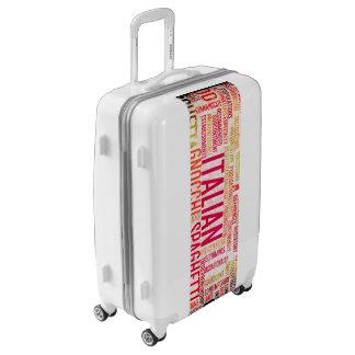 Italian Food and Cuisine Menu Background Luggage