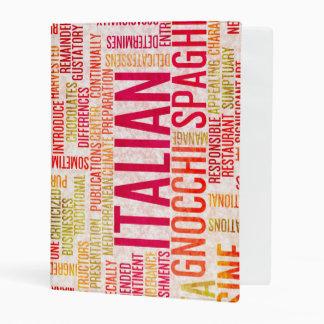 Italian Food and Cuisine Menu Background Mini Binder