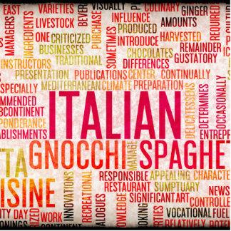 Italian Food and Cuisine Menu Background Statuette