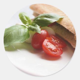 Italian food classic round sticker