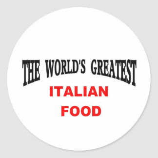 Italian food classic round sticker