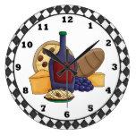 Italian food clock