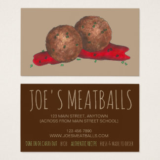 Italian Food Cooking Meatballs Chef Restaurant Business Card