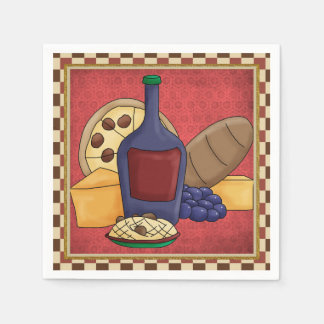 Italian Food fun paper napkins