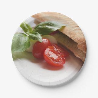 Italian food paper plates