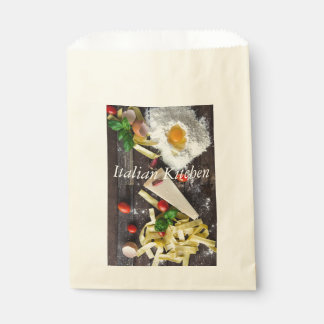 Italian Food Personalize Text Favor Bag