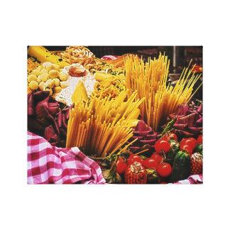 Italian Food Photography, Kitchen Wall Decor Canvas Print