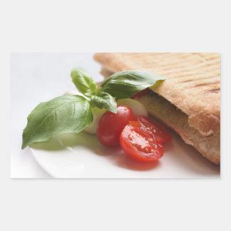 Italian food rectangular sticker
