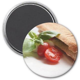 Italian food round magnet