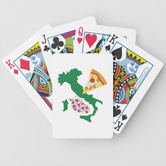 Italian Foods Bicycle Playing Cards