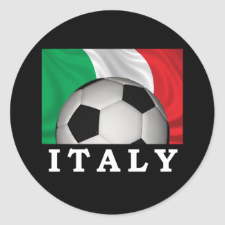 Italian Football Classic Round Sticker