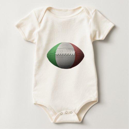 Italian Football Flag Baby Bodysuit