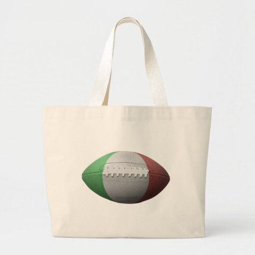 Italian Football Flag Large Tote Bag