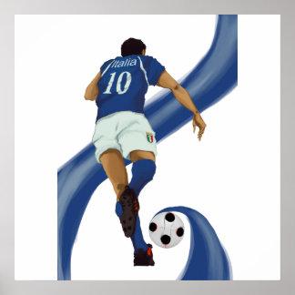 italian football gifts for Azzurri soccer fans Poster
