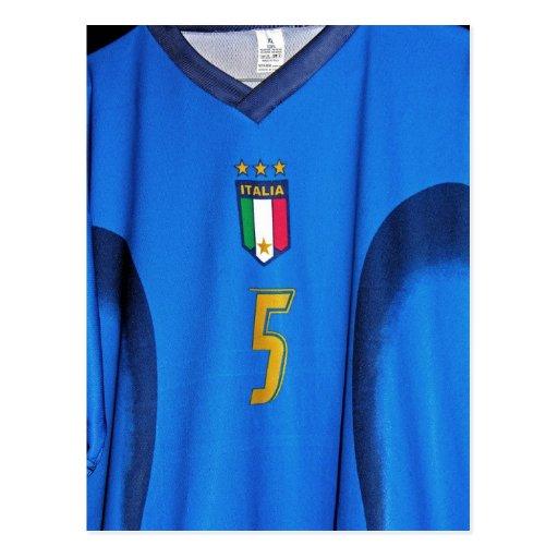 Italian Football Shirt Postcards