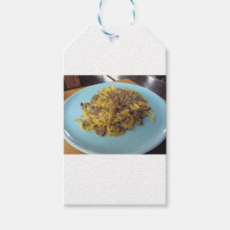 Italian fresh fettuccine with porcini mushrooms gift tags
