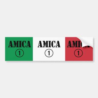 Italian Friends : Amica Numero Uno Car Bumper Sticker