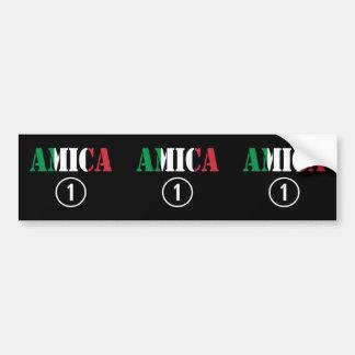 Italian Friends : Amica Numero Uno Bumper Sticker
