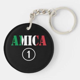 Italian Friends : Amica Numero Uno Keychain