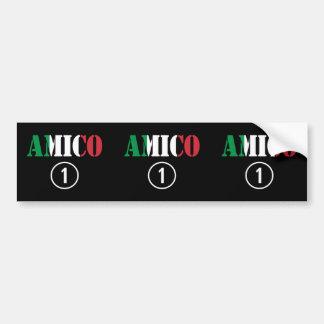 Italian Friends : Amico Numero Uno Car Bumper Sticker