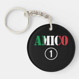 Italian Friends : Amico Numero Uno Keychain