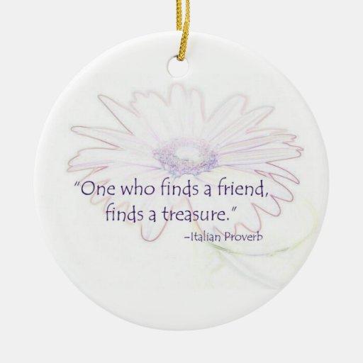 Italian Friendship Proverb Ornament
