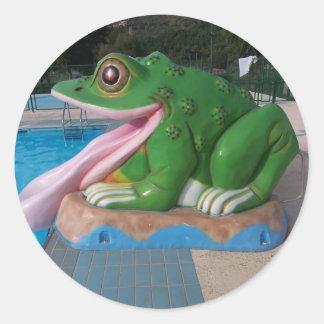 Italian Frog Slide Classic Round Sticker