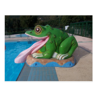Italian Frog Slide Postcard