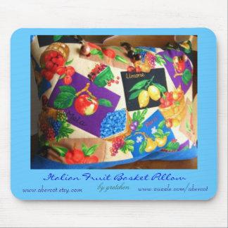 Italian Fruit Basket Pillow Mousepad