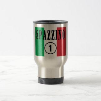 Italian Garbage Men : Spazzino Numero Uno Travel Mug