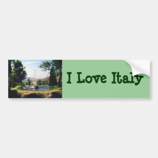 Italian Garden Estate Fountain ~ Italy Travel Bumper Sticker
