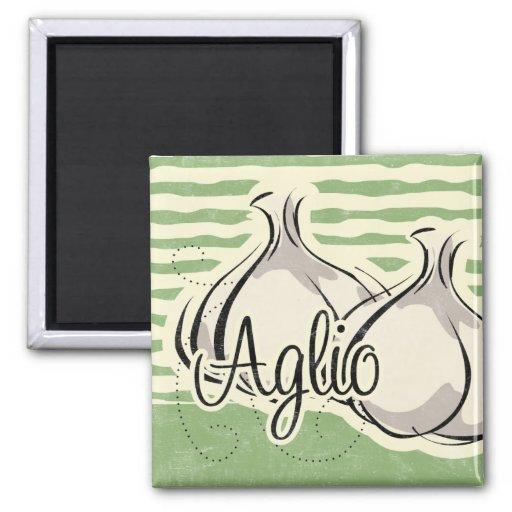 Italian Garlic Kitchen Magnet
