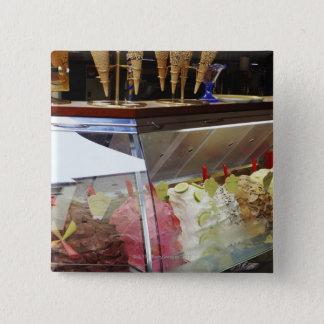 Italian gelato in display case button