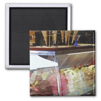 Italian gelato in display case magnet