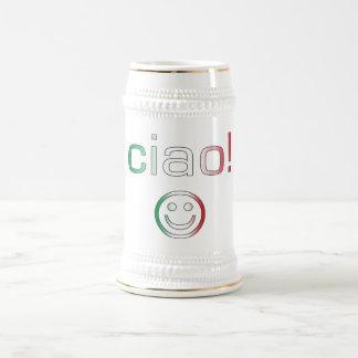 Italian Gifts : Hello / Ciao + Smiley Face Mug