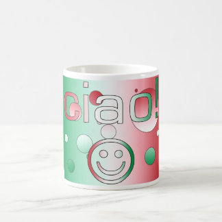 Italian Gifts : Hello / Ciao + Smiley Face Coffee Mugs
