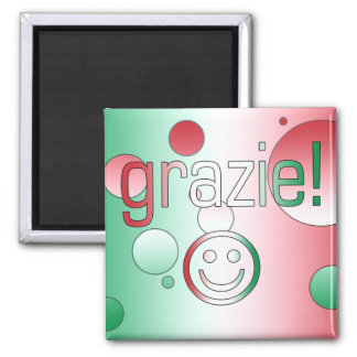 Italian Gifts : Thank You / Grazie + Smiley Face Magnet