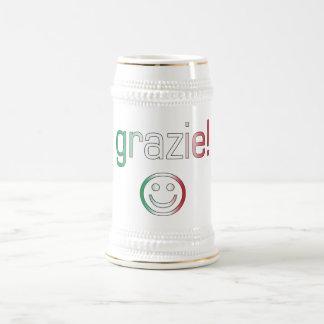 Italian Gifts : Thank You / Grazie + Smiley Face Coffee Mug