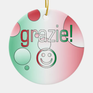 Italian Gifts : Thank You / Grazie + Smiley Face Ornaments