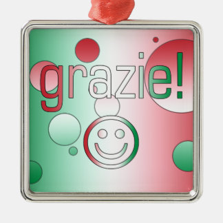Italian Gifts : Thank You / Grazie + Smiley Face Christmas Ornaments