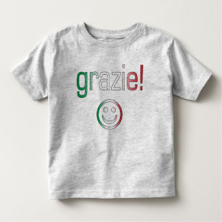 Italian Gifts : Thank You / Grazie + Smiley Face Toddler T-shirt