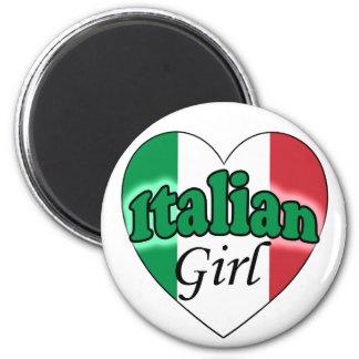 Italian Girl 2 Inch Round Magnet