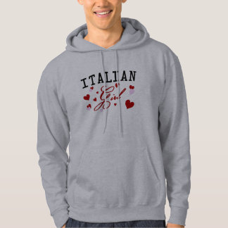 Italian Girl Hooded Sweatshirt