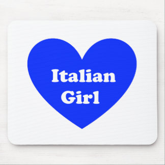 Italian Girl Mouse Pad