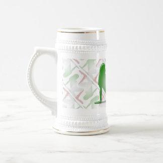 Italian Girl Silhouette Flag Beer Stein