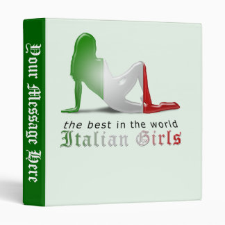 Italian Girl Silhouette Flag Binder