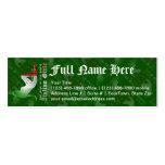 Italian Girl Silhouette Flag Business Card Templates
